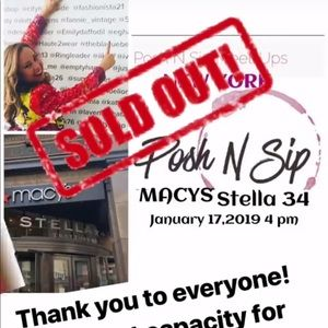 SOLD OUT Posh n Sip 01/17/19 4-6 pm  New York